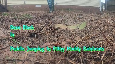 Puddle Jumping In Filthy Muddy Rainboots PREVIEW