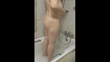 Step son caught fucking step mom in the bathroom on hidden camera