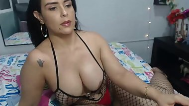 latina mom in hot outfit until she take it out
