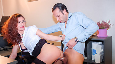 AmateurEuro - Curly MILF Julia Gomez Has Anal With Her Boss