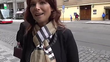 Sexy mature MOM anal fucked by stranger in Prague on vacation