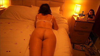 Tan Pantyhose Over Thong