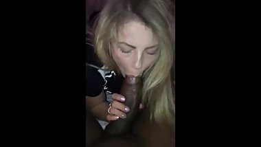 My wife sucks her first black monster cock