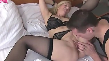 like mother and stepson - german mature housewife mom creampie