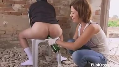 Ella Kross:Beer Bottle Sodomy