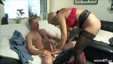 German MILF caught brother in law and Help with Fuck to Cum
