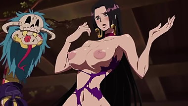 ONE PIECE edited ecchi moment from anime naked Boa Hancock