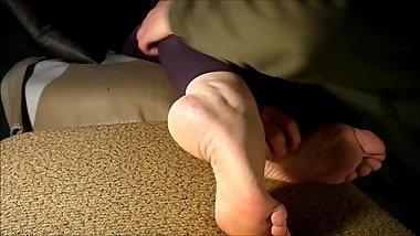 big arched soles aunt need cum, but becomes tickling torture