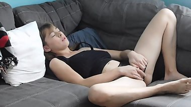 Hot Blonde Caught Masturbating