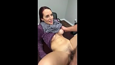 Who knows her name? Amateur MILF gets creampie from young boy
