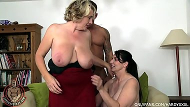 Two Horny Horseriding HOUSEWIVES Seduce Young Stud!