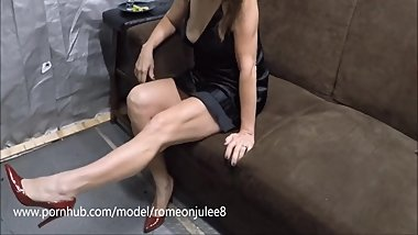 Wife's dress shows pussy, she confesses and gets fucked, PART ONE