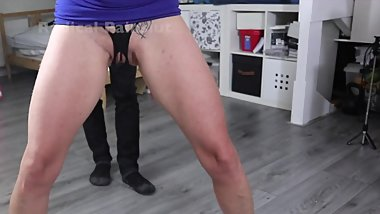 Kick in the Cunt for Submissive Painslut