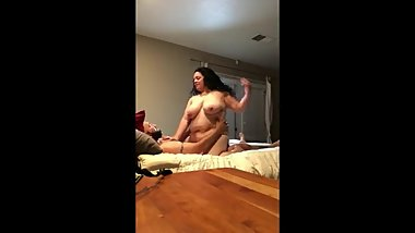 My best friend with very big dick fucks hard my busty cheating wife
