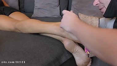 Saeda mature milf feet, foot worship and wedges soles lick