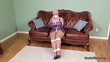 2388 MILF Damsel in Distress Gagged, Pantyhose Feet & Strict Rope Struggles