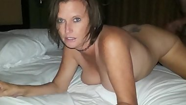 Hubby records his busty wife gets creampie from her ex