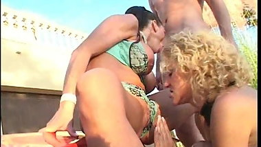 Classic german outdoor group hard fucking young older film