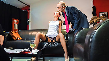 FORBONDAGE July Sun Pussy Fisted & Ass Abused At The Office