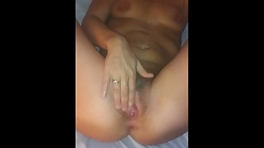 Stepmom fists her pussy begging for some dick