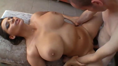 Sexy MILF with big tits and her new young lover