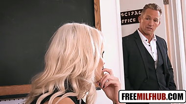 Hot Blonde Teacher Wants Principle Big Cock by Freemilfhub