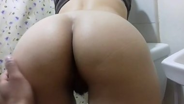 Showing my hot wife's hairy pussy to my friends