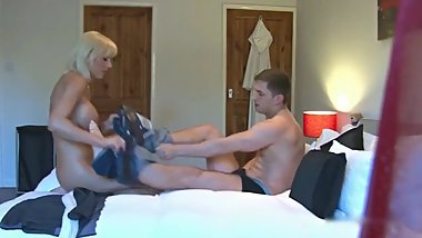 Sexy MOM gets hard fucked by young stud on vacation