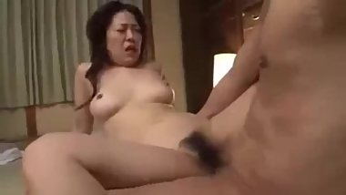 Busty mom fuck son friends in front son
