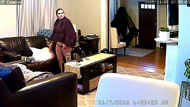 Hidden camera. Funny wife