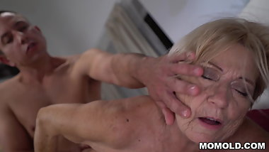 70+ GILF Is In Love With Young Cock