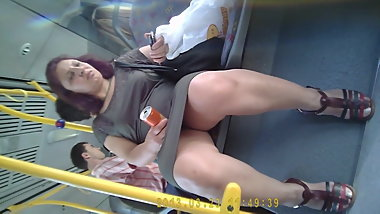 turkish hidden bus skirt upskirt turk etek alti