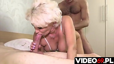 Blonde mature gets fucked