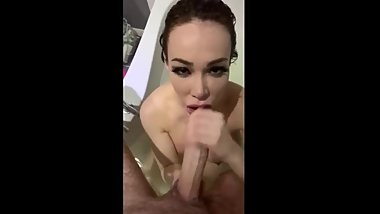 HORNY STEPMOM SUCKS MY DICK IN BATHTUB (ADD ME ON SNAP: premiumxbabes)