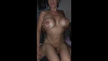 Husband records his busty wife gets hard fucked by stranger