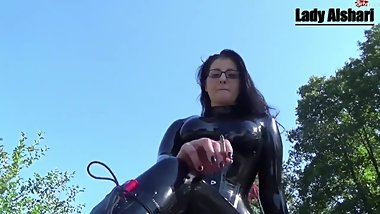 Latex Mistress smoking preview